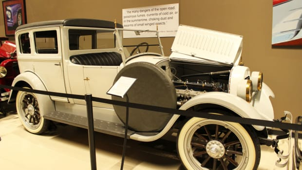 This classy 1922 Hudson Custom Town Car at the Classic Car Collection is powered by the 288.5-cid Super Six producing 76 hp