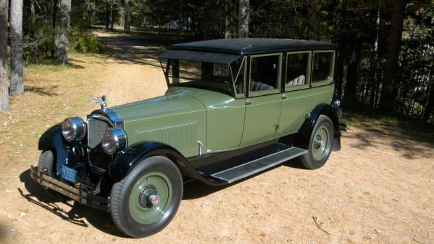 Except for its paint, Andrea and Ken Chartiers' coachbuilt 1925 Packard limousine is original.