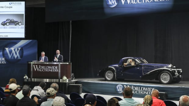 1938 Bugatti Type 57C Atalante Coupé that brought $1.765 million