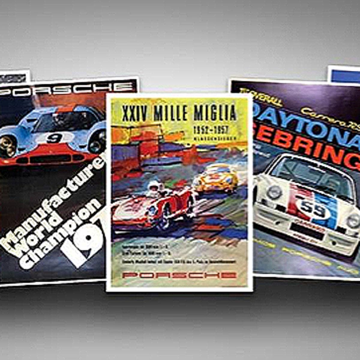 Porsche 1971 World Championship Vintage Race Poster