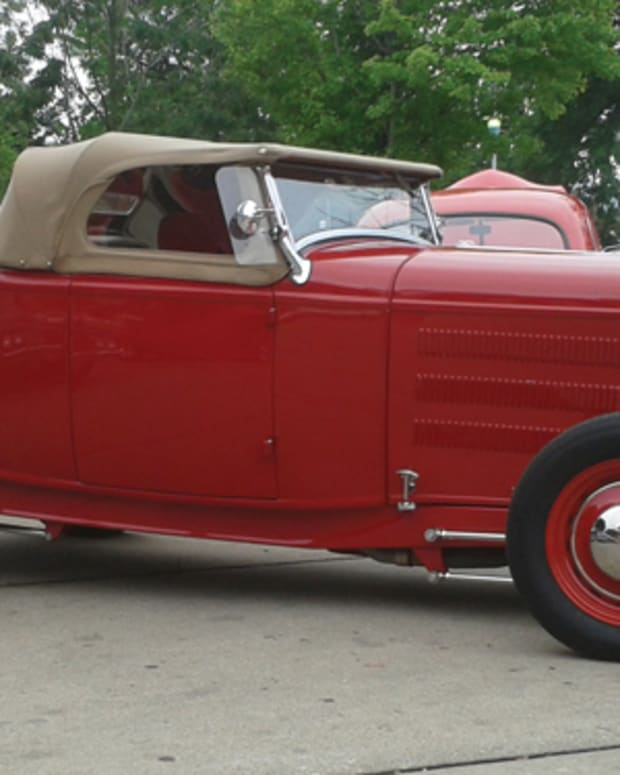 The WSVA has been established to lobby against issues that hot rodders have been encountering with the Wisconsin State Patrol. Interpretations of 1990s laws have put in to question hot rods that have been legal in the past. The fenderless car pictured here is a prime example of what many consider it an offender to the rules.