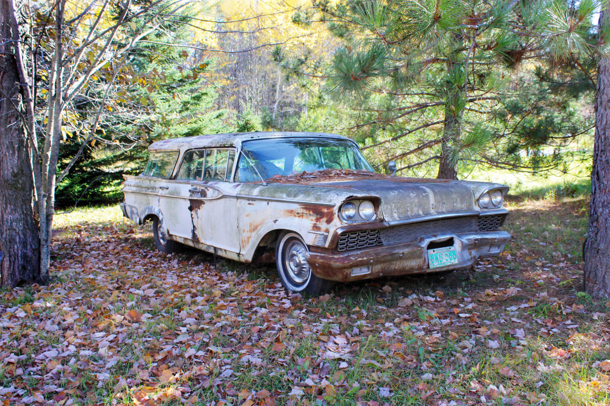 Weathered Wheels: 1959 Mercury station wagon