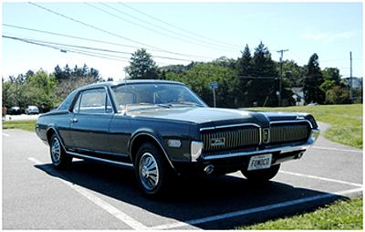 Old Cars Reader Wheels: 1968 Mercury Cougar