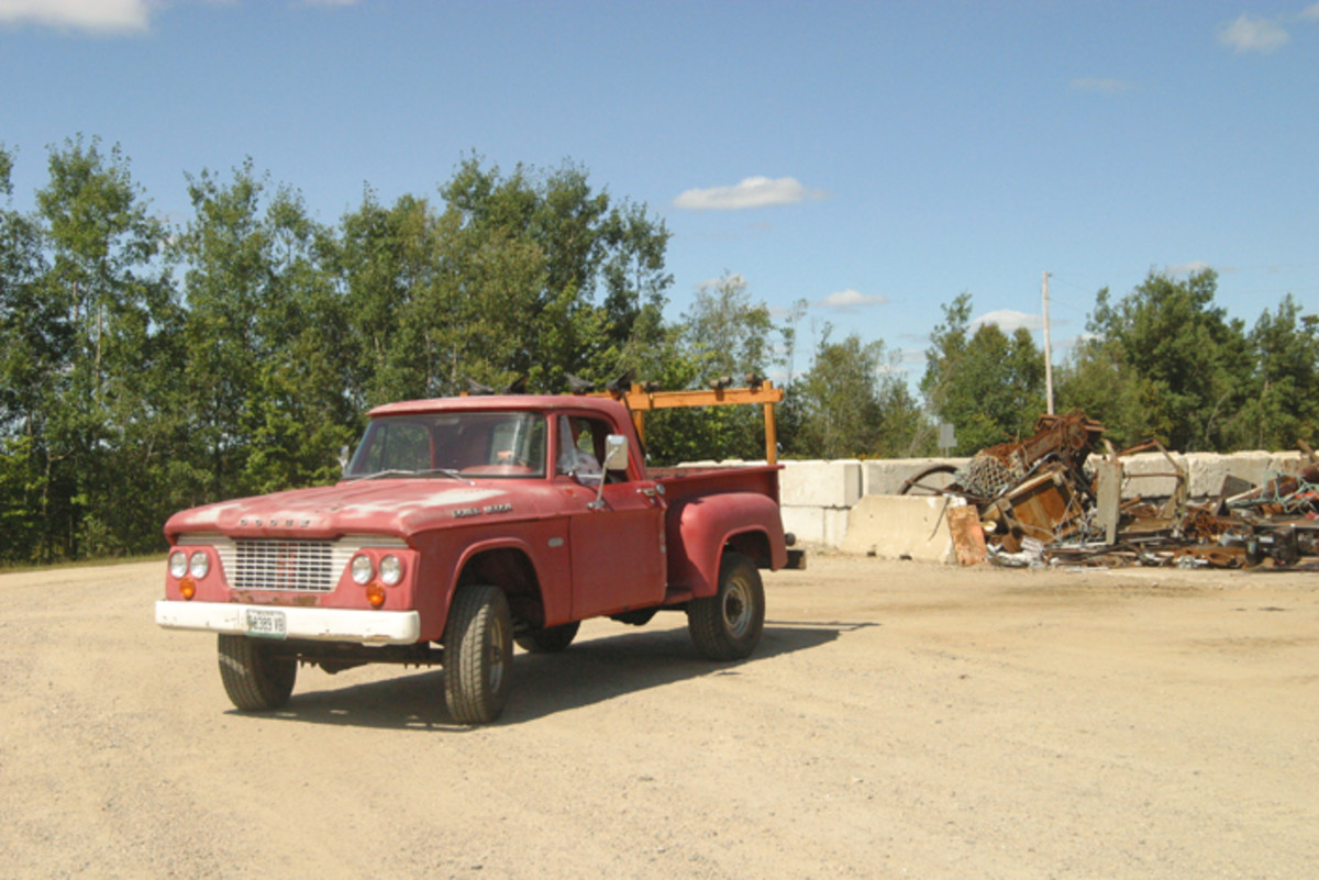 List most old trucks that are good enough to use, this one does work and pleasure duty.