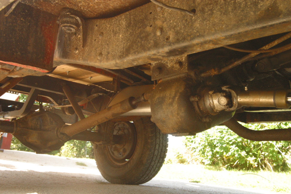 A view of the 4x4 chassis.