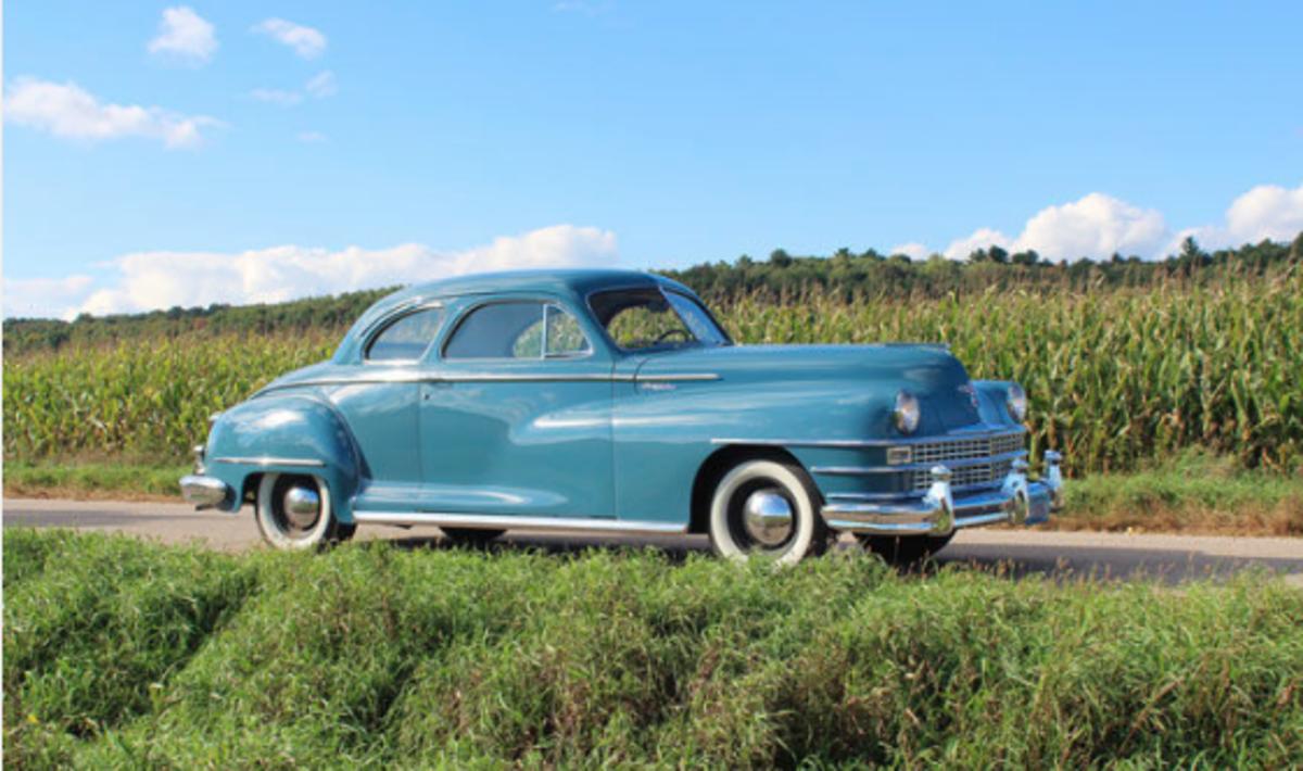 car of the week: 1948 chrysler windsor - old cars weekly  old cars weekly