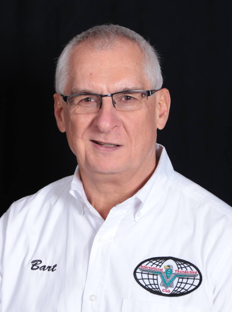 International Thunderbird Club president Gerard (Bart) Bartasavich