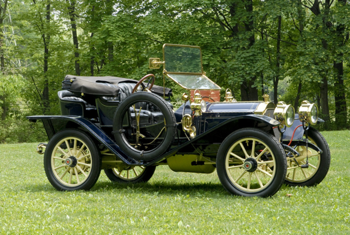 A bigger brass car  such as a 1910 Packard has an aesthetic and  performance appeal that's impossible to overlook.