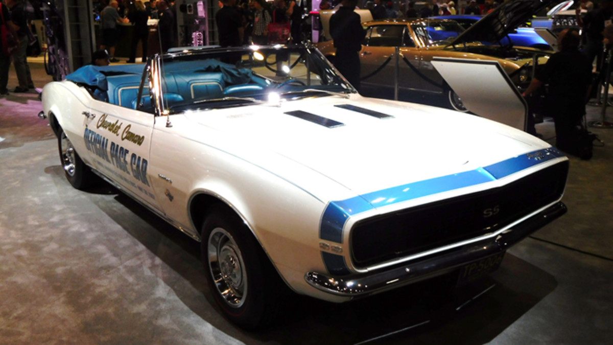 Chevrolet Motor Div. brought this 1967 Camaro Indy Pace Car to the 2016 SEMA show. The '67 pace car was never sold in replica form.