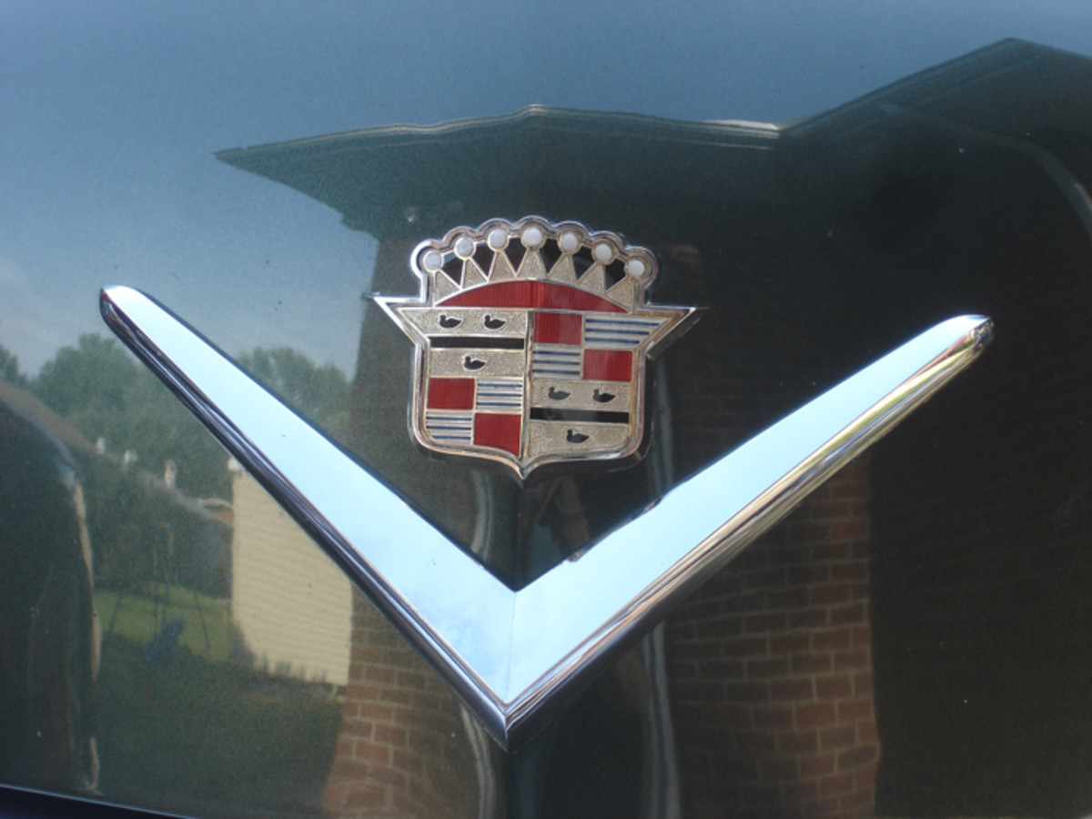 The iconic Cadillac crest.