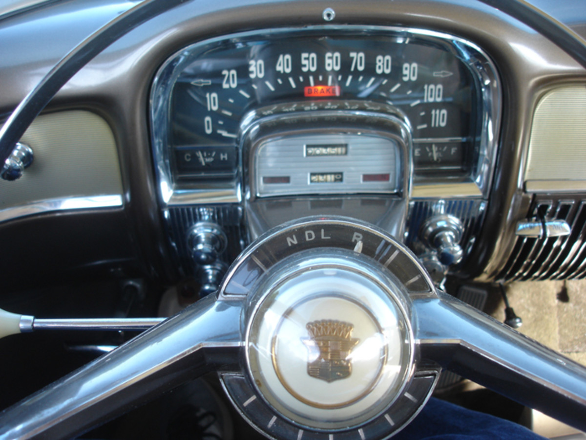 """""""Park"""" is not seen on the Hydra-Matic gear selector, but exists on the transmission by placing the car in """"Reverse"""" and shutting off the engine."""
