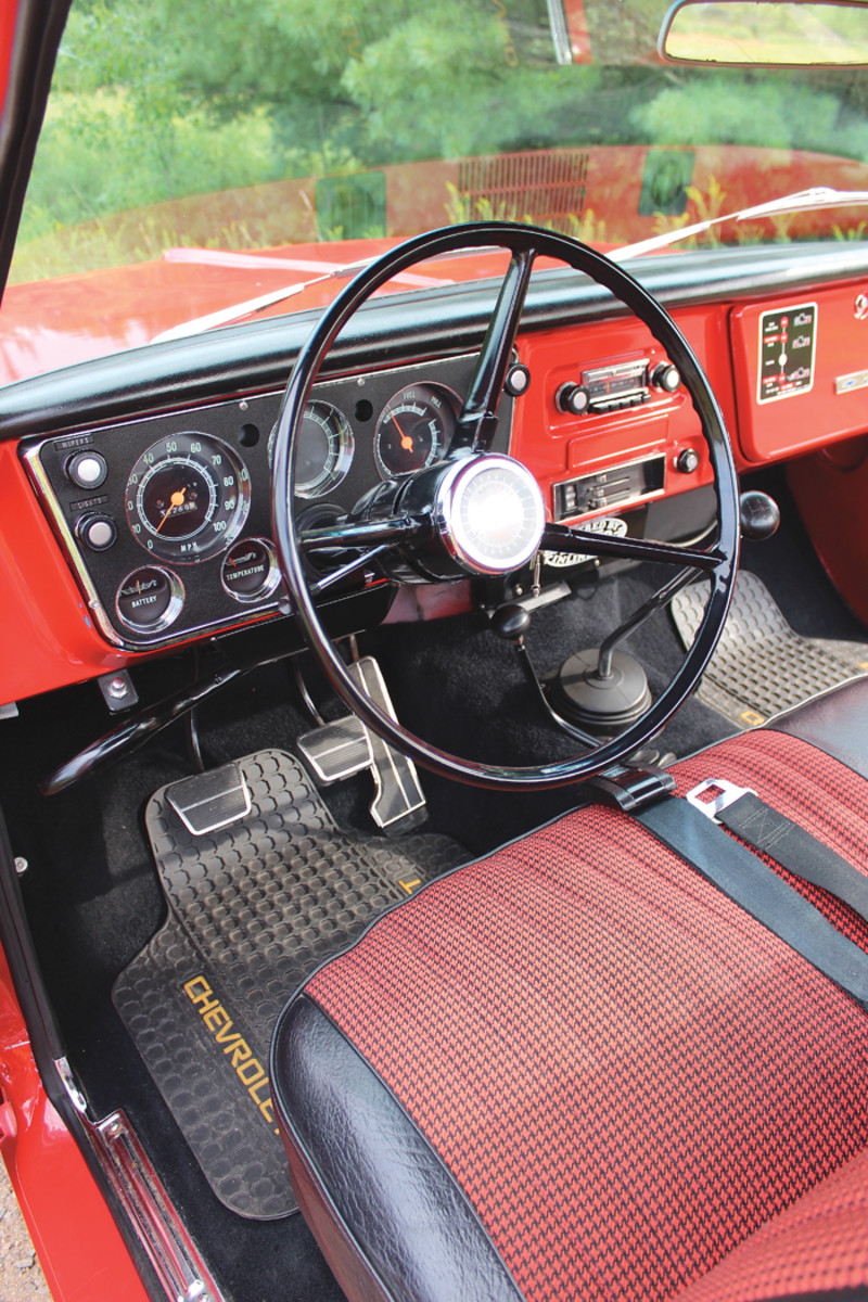 A look inside the cab of the K10.