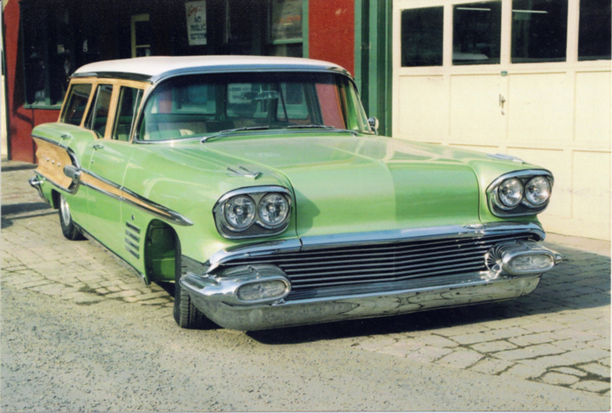 Lou Calisibetta also built this '58 Safari wagon into a woodie.