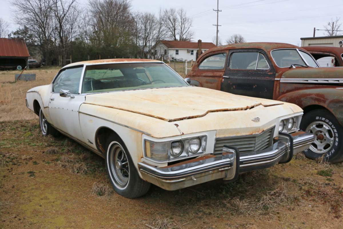 Running and driving when parked, this 1973 Buick Rivera was the final year for the boat-tail rear styling.