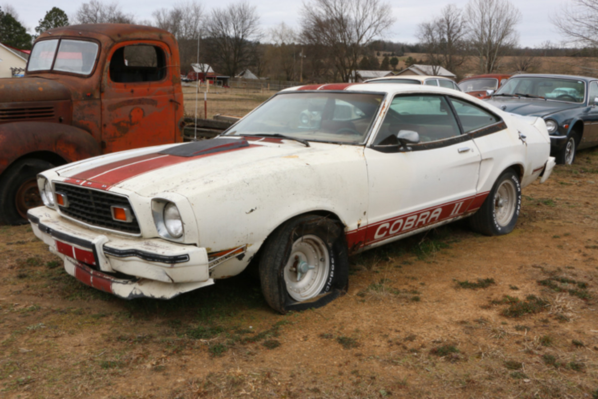 1978 was the last year for the Mustang II. This one with the Cobra II package has a four-speed transmission and air conditioning.