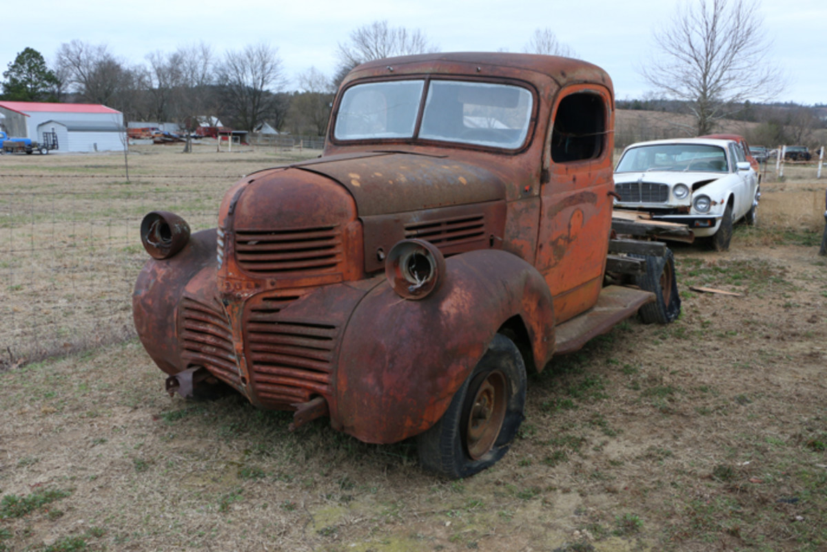 """Varnell describes this 1947 Dodge truck as """"great rat rod material."""""""