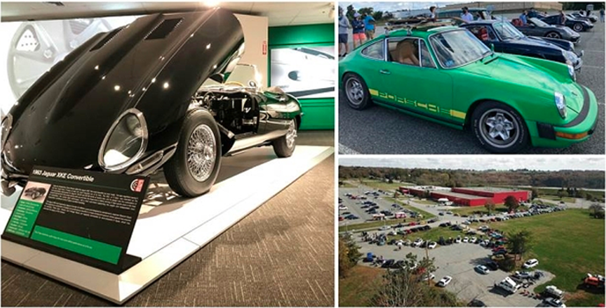 "A monthly ""Hoods Up"" Weekend and ""Cars and Coffee"" events are crowd pleasers at the Newport Car Museum where an expansive parking lot and grounds are well utilized for car club visits and other special events."