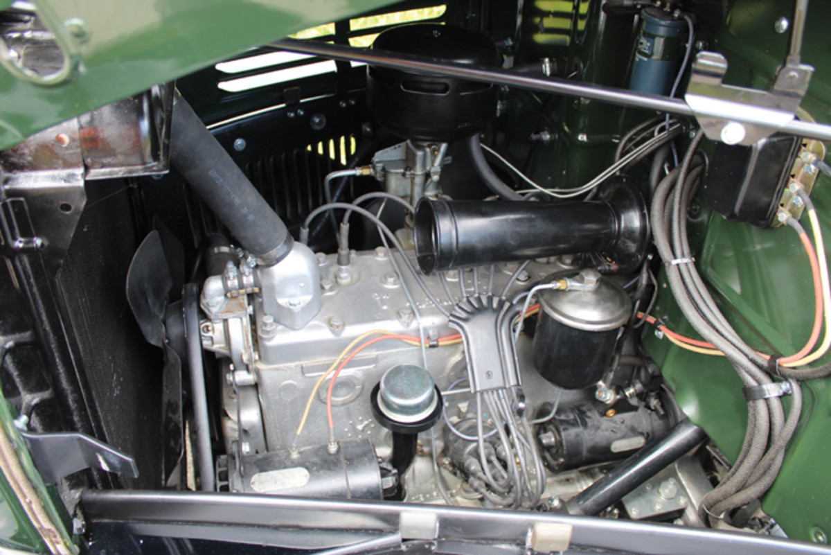 The 201-cid inline six-cylinder worked hard to earn its reputation as a dependable power plant.