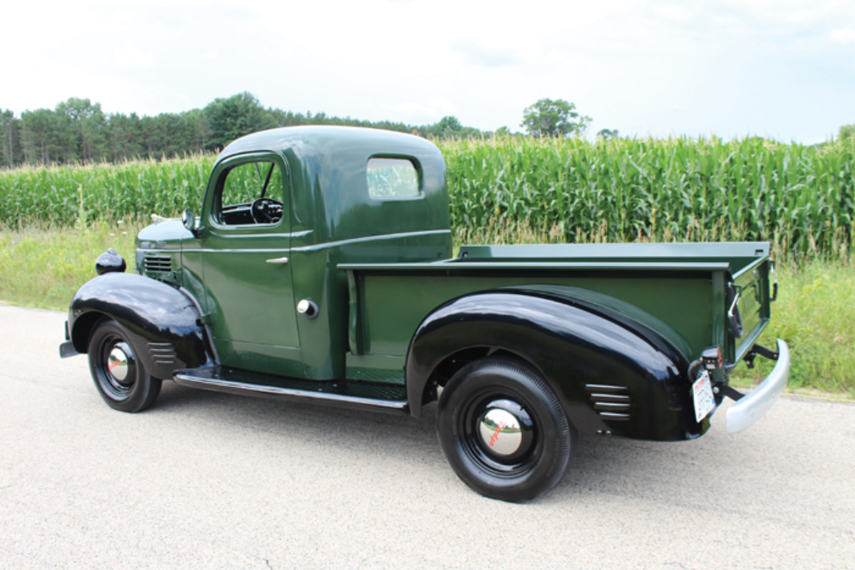 Dodge gave its truck lineup a major restyling and update in 1939, and the 1940 models had only a few minor changes. Mike and Dana Klatt's beautiful half-ton pickup is nearly stock inside and out with a few minor tweaks such as a second tail lamp and small signal lamps on the headlamps for safety.