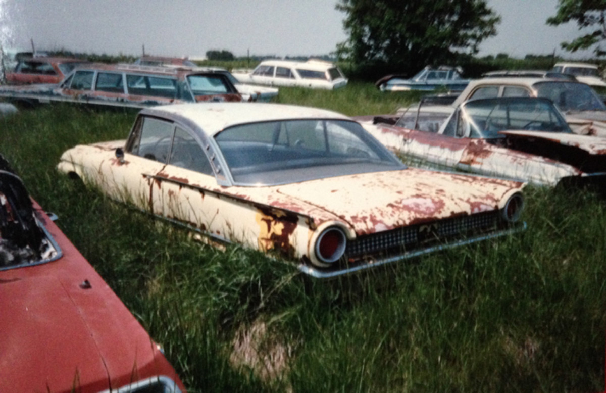 A complete 1961 Ford Starliner with all of its Starliner trim would be a boon to a restorer today. Hopefully at least all of this unique trim was saved, if not the whole car.