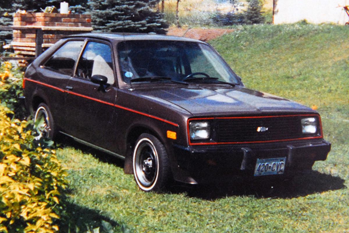 A picture of my 1984 Chevrolet Chevette, taken circa-June 1989.