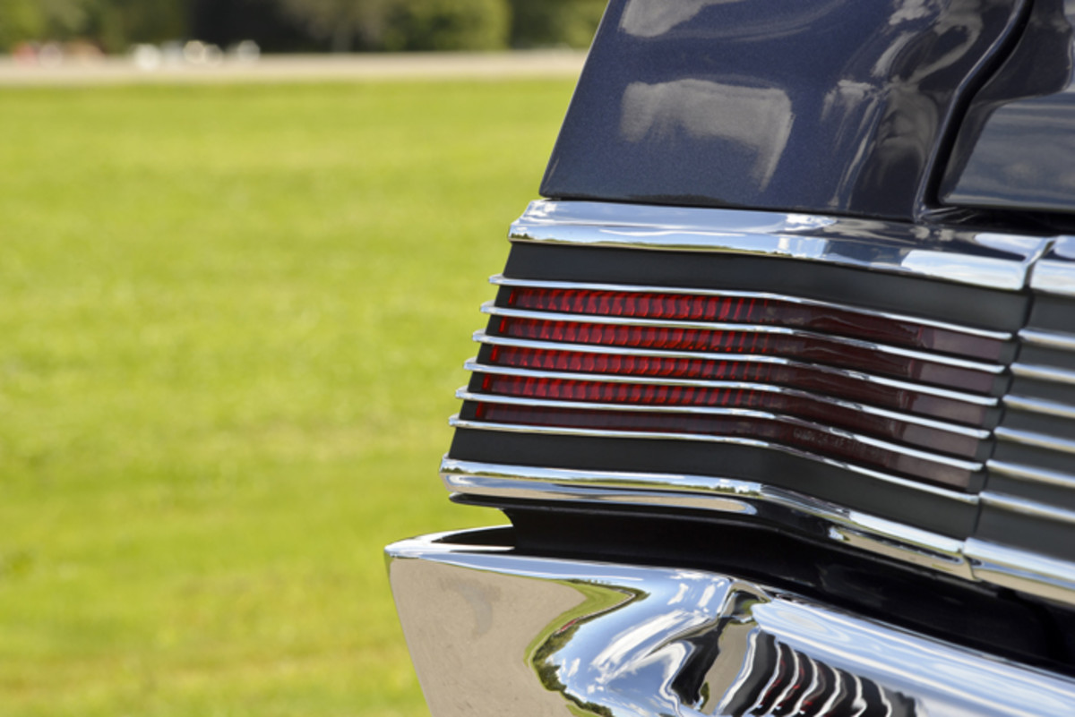 Taillamps have sometimes stopped stylists dead in their tracks, almost as if the ideas had dried up by the time they reached the back of the car. The 1965 GTO, though, took an elegant – and successful – approach with thin lines of brightwork over simple lenses.