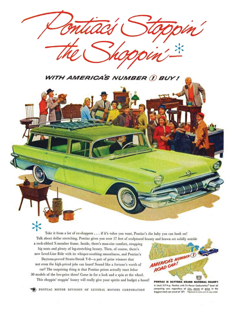 An ad pictured the Transcontinental Safari four-door station wagon, but oddly, it didn't identify it.