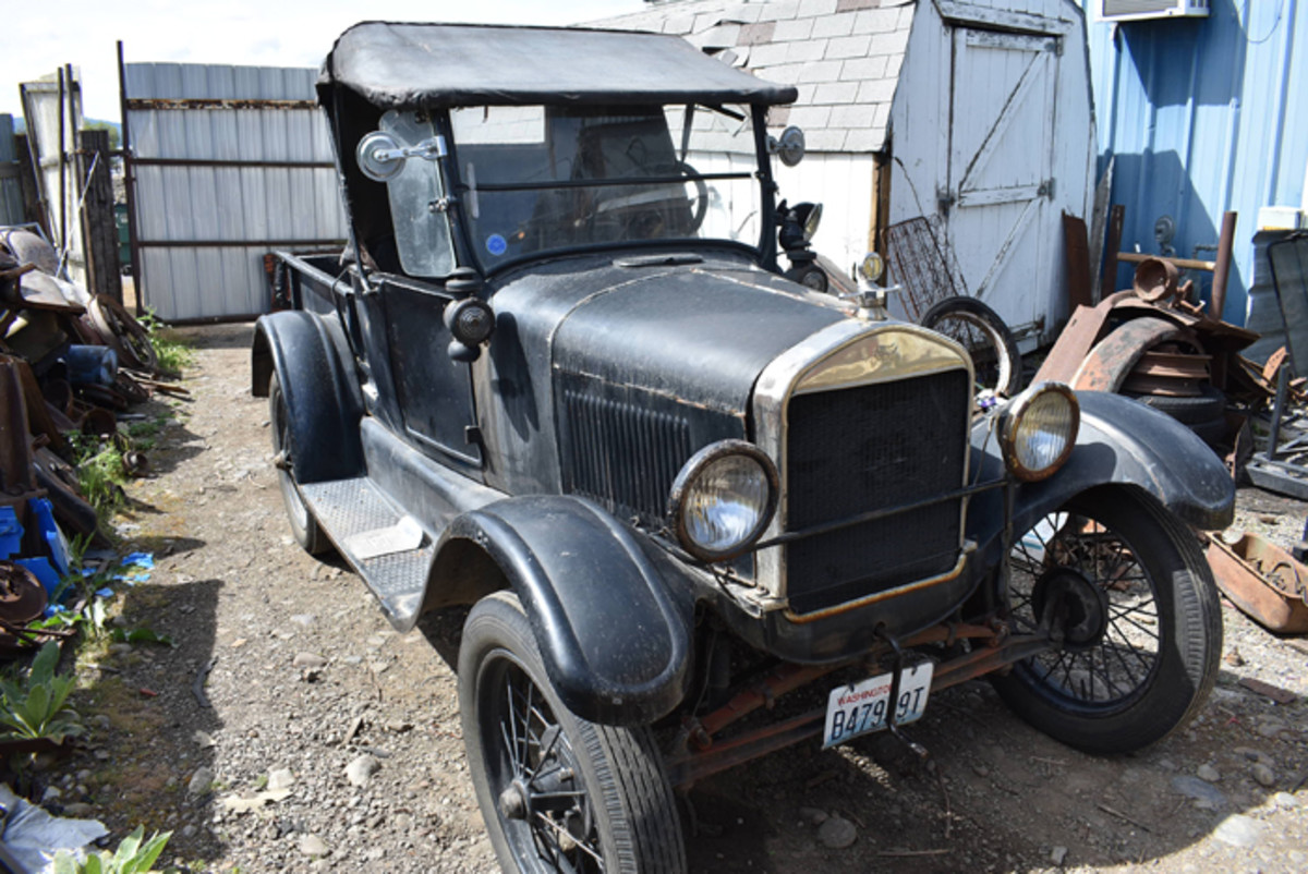 In daily use for making runs to the post office or delivering parts is this tried-and-true 1926 Model T roadster pickup.