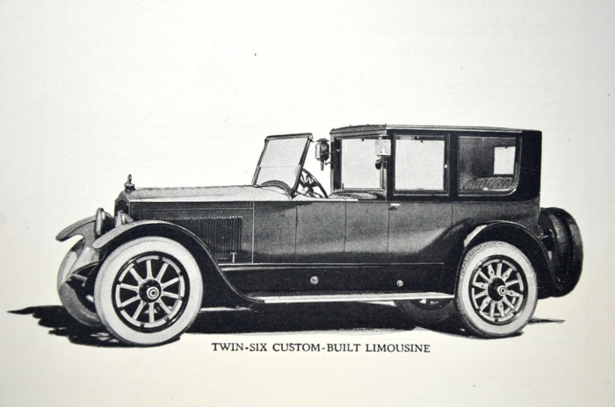 The Packard Twin Six was also offered in custom design with modifications by Packard or specialty designers.