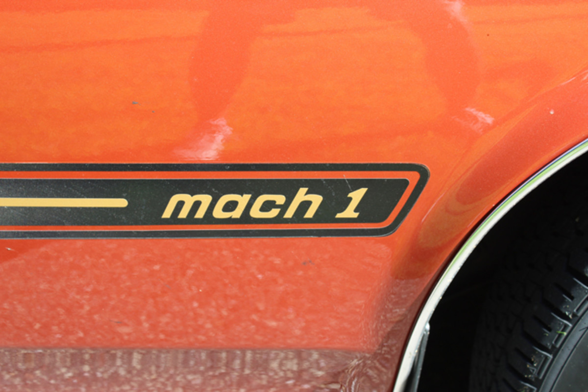 Mach 1 markings adorn the fenders.