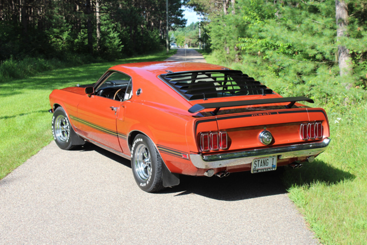 The Mustang grew by nearly 4 in. in length for 1969 and the fastback became known as the SportsRoof.