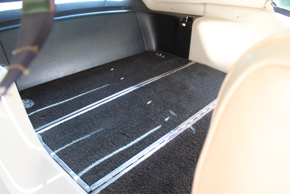The Mustang sports the fold down rear seat.
