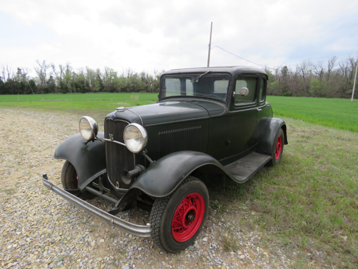 The only Deuce coupe being sold from the Regehr collection is this five-window 1932 that is ripe for restoration.