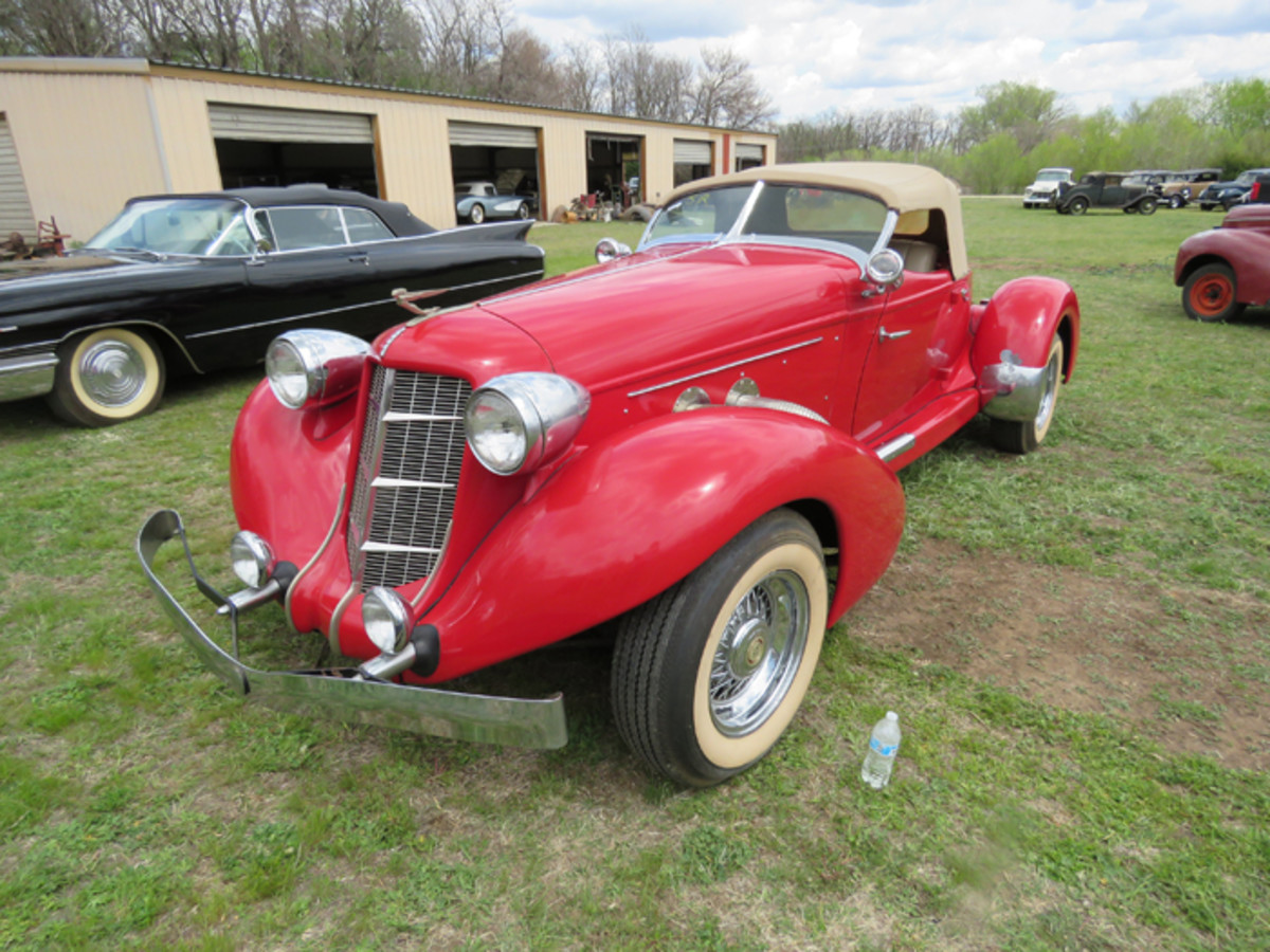 Both Kansas collections have replica Auburn speedsters; this is Regehr's speedster, which is said to have been built in Broken Arrow, Okla., which would make it a product of the respected Glenn Pray.