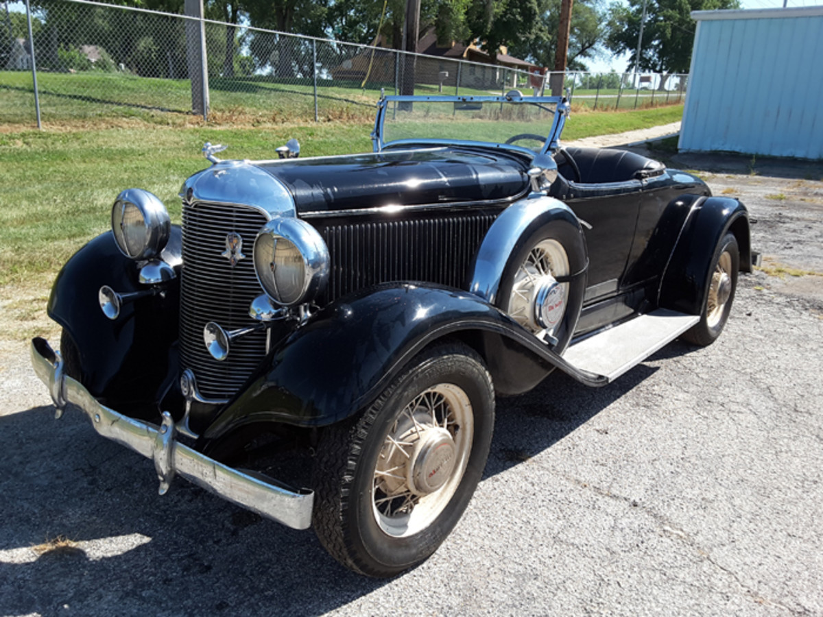 1932 De Soto roadster is one of at least two such cars in the Adair collection. One of the other De Soto roadsters is an ambitious project.