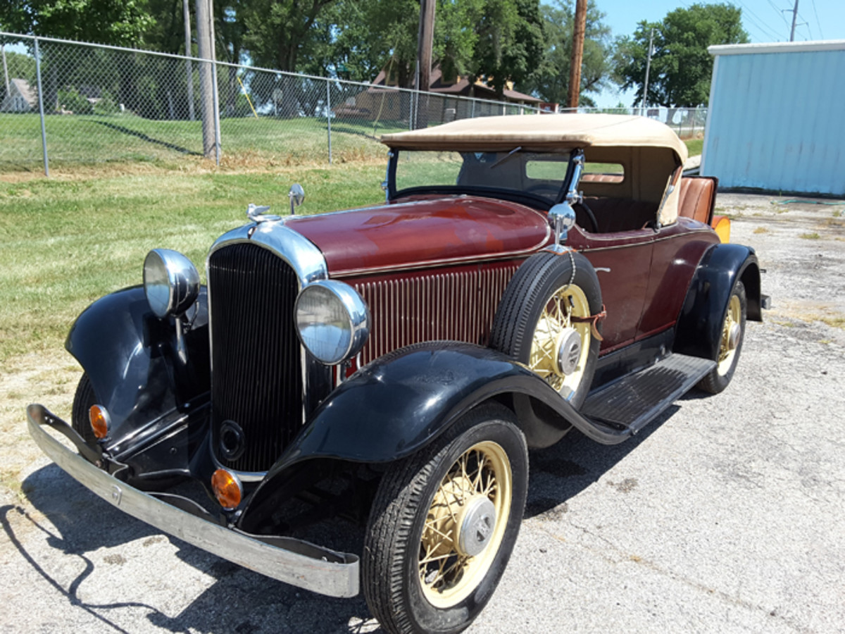 This 1932 Plymouth roadster in the Adair collection may have just 1312 miles, according to a previous owner of the car.