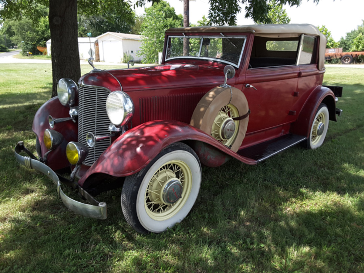 Super rare 1932 De Soto two-door deluxe convertible sedan in the Adair collection is one of just 275 built for the model year. As with all of the other MoPars from 1932 in the late Mr. Adair's estate, it will be sold by VanDerBrink Auctions.