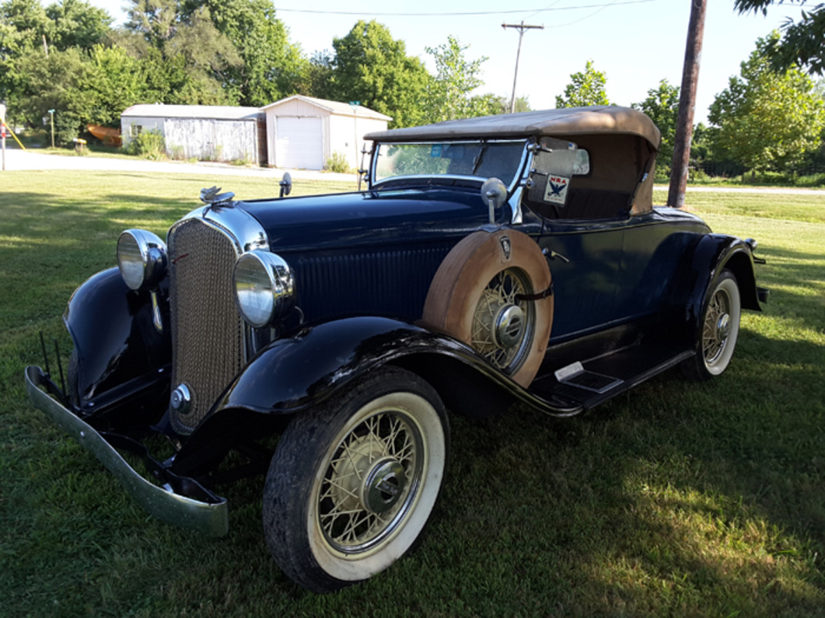 1932 Plymouth roadster is one of six collected by the late Mr. Adair, who had a penchant for all 1932 MoPar products.