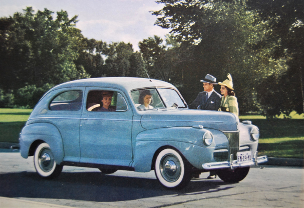 The '41 Fords were introduced in September 1940 at more than 6000 Ford dealerships.