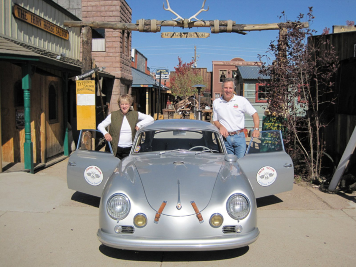"""I've had my Outlaw Porsche 356 for at least 25 years,' says Bruce Meyer. ""I'm sure I didn't invent the idea, but I was certainly one of the first. I bought my little '57 356A Coupe in a basket, unassembled... I thought it would look cool as an old silver Porsche GT. The engine is a bit over 1800cc and develops about 125 bhp, which is enough."""