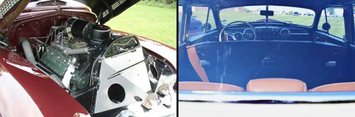 Cadillac Engine and rear interior