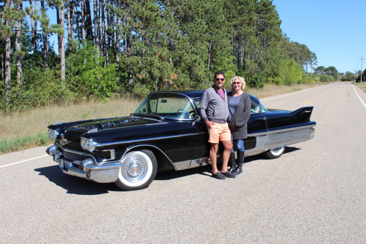 Jody and Terri with their Cadillac