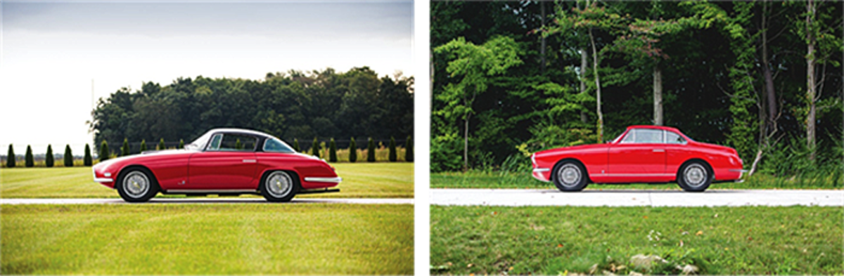 LEFT: 1954 Fiat 8V Coupe by Vignale RIGHT: 1954 Fiat 8V Coupe by Vignale