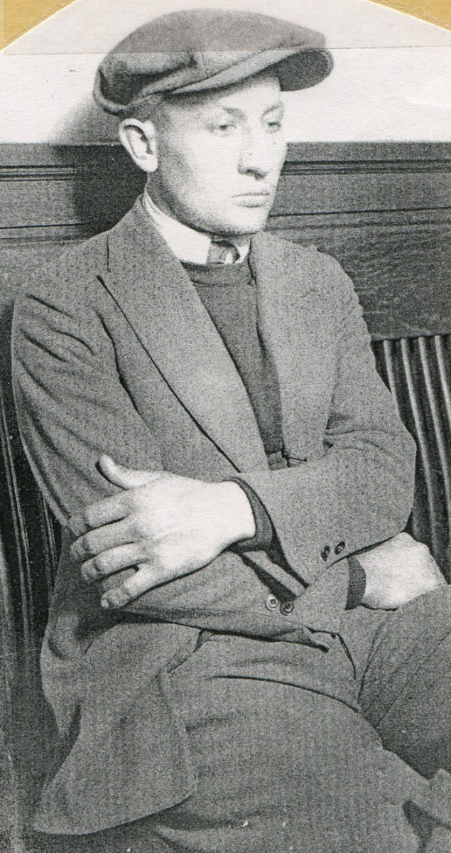 Harvey Church after his apprehension following the murder of two Packard dealership employees in the theft of a 1921 Packard Twin Six.