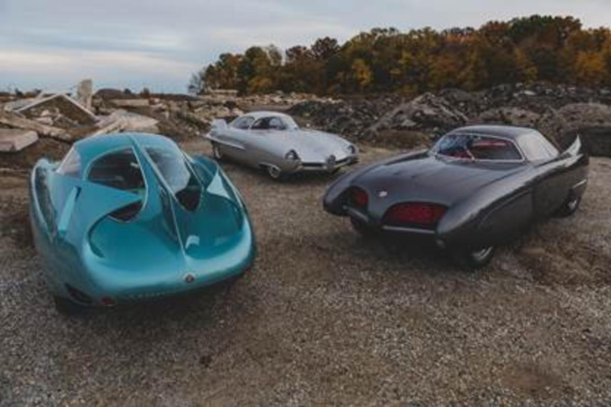 A group shot of the Alfa Romeo Berlina Aerodinamica Tecnica Concepts
