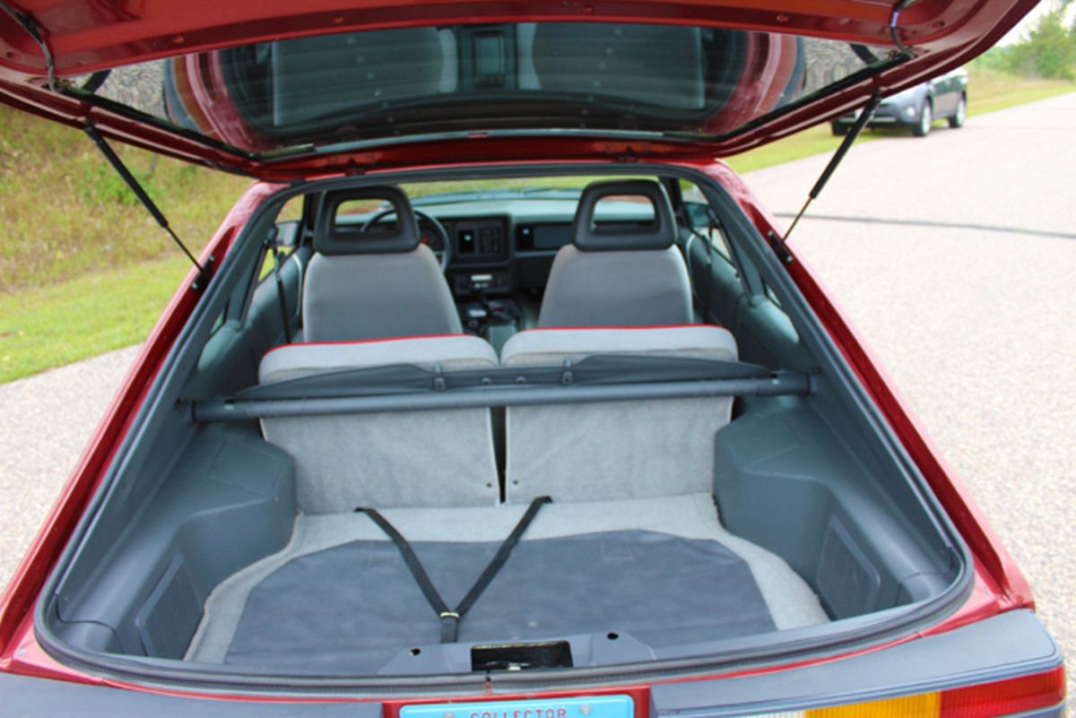 Hatchback practicality and ample storage in the Fox body Ford