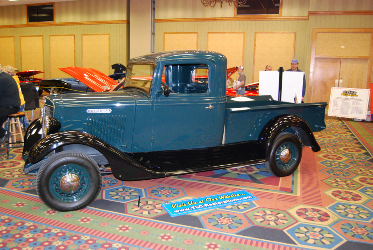 One of the collector vehicles at a past Expo was a rare International pickup.