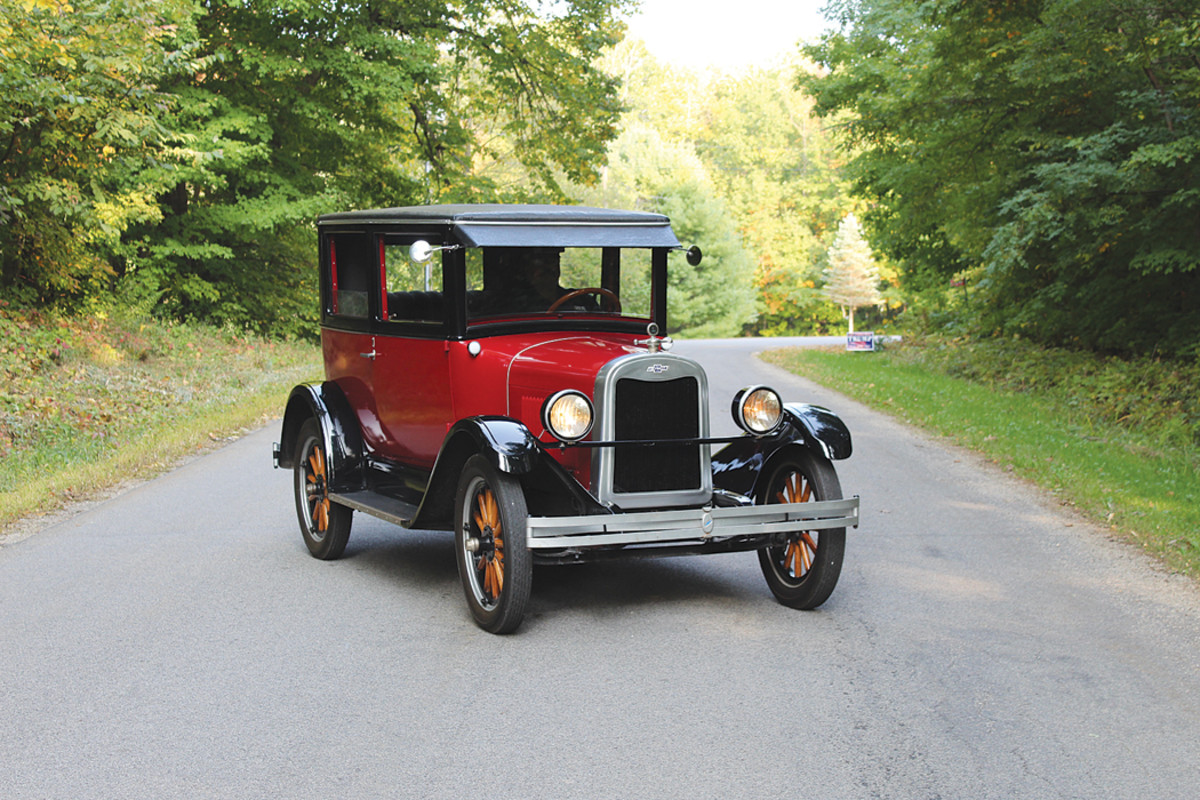 Like all cars of the era, the '26 Chevrolet lacks turn signals.