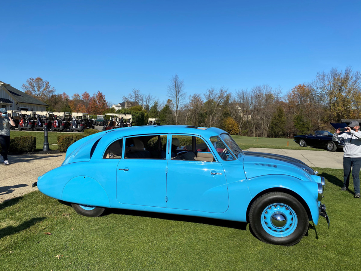 1940 Tatra Class K. Made in Czechoslovakia, powered by a V8 can go up to 100 mph.