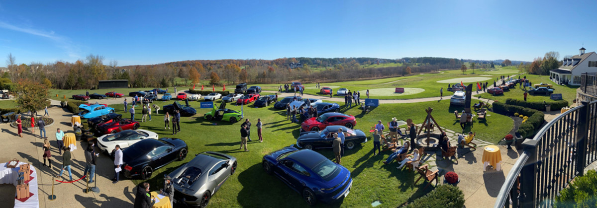 Overview of the Creighton Farms Cars & Cappuccino show